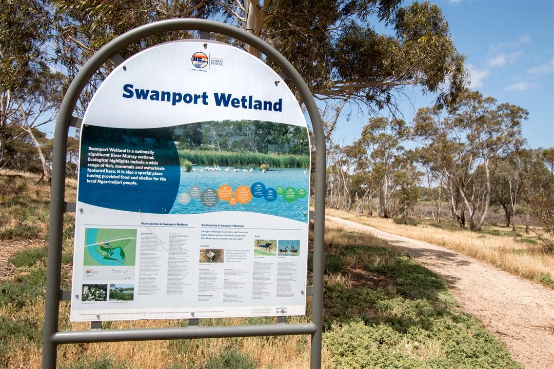 Swanport Wetlands Information Sign